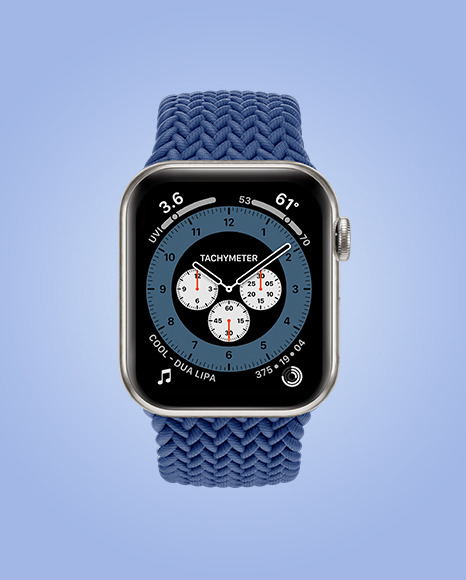 Apple Watch Series 6 with Titanium Case Mockup