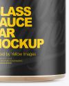 Glass Sauce Jar Mockup