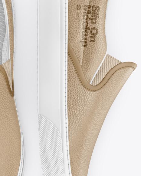 Leather Slip-Ons Mockup