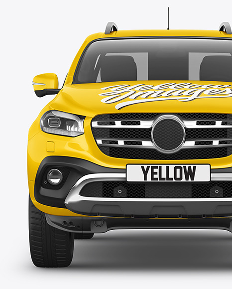 Luxury Pickup Truck Mockup - Front View