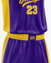 Basketball Kit Mockup - Half Side View