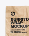 Paper Wrapper With Burrito and Sauce Mockup
