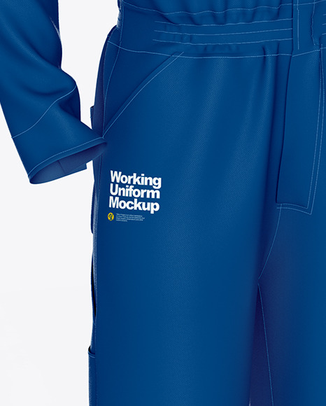Worker Uniform (Coveralls) Mockup – Front Half Side View