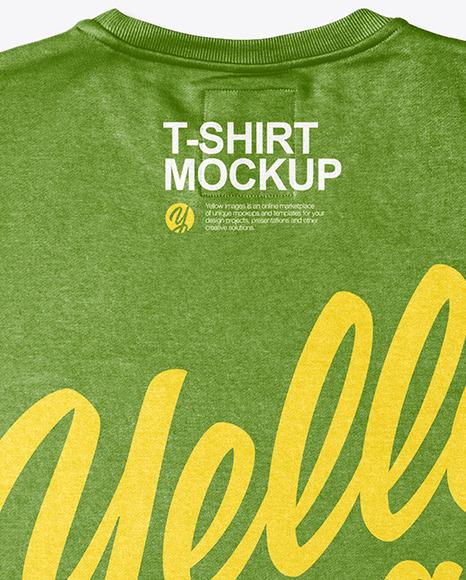 T-Shirt w/ Round Neck Mockup