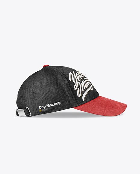 Baseball Cap Mockup - Side view