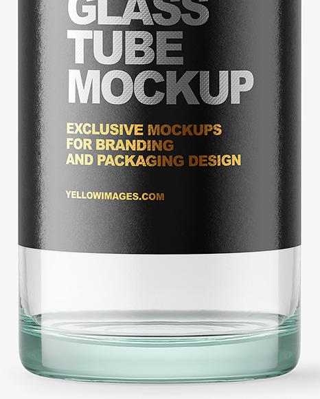 Transparent Glass Tube Mockup