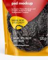 Clear Plastic Pouch w/ Dried Prunes Mockup