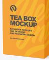 Square Tea Box Mockup