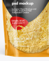 Clear Plastic Pouch w/ Grated Cheese Mockup