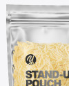 Frosted Plastic Pouch w/ Grated Cheese Mockup