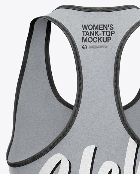 Women's Tank Top Mockup - Back View