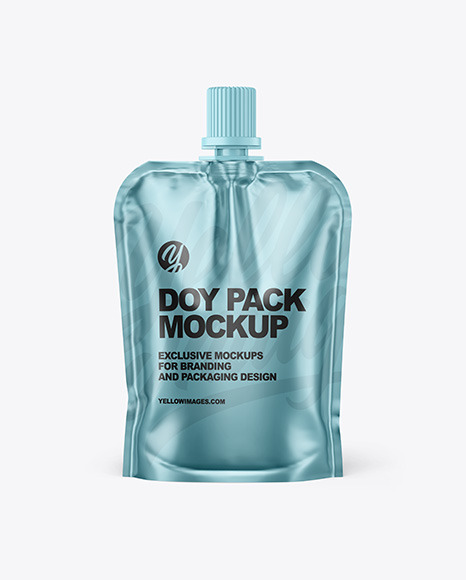 Metallic Doy Pack Mockup