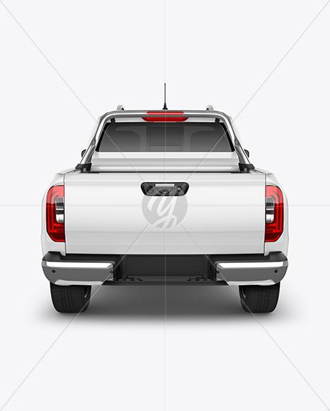 Luxury Pickup Truck Mockup - Back View