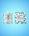 Glossy Candle W/ Box Mockup