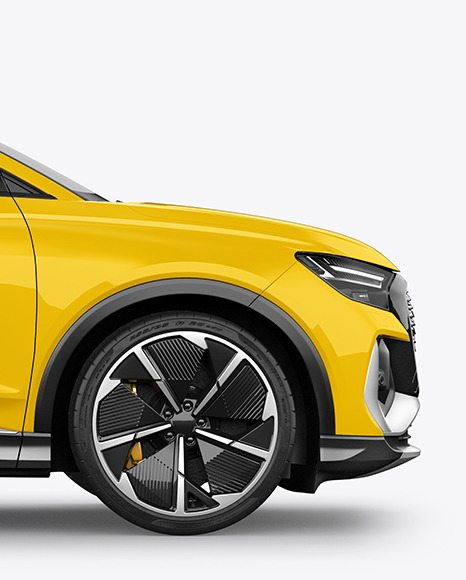 Electric Crossover SUV Mockup - Side View