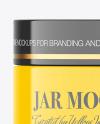 Glossy Cosmetic Jar w/ Box Mockup
