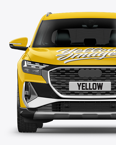 Electric Crossover SUV Mockup - Front View