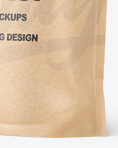 Kraft Paper Doy Pack Mockup