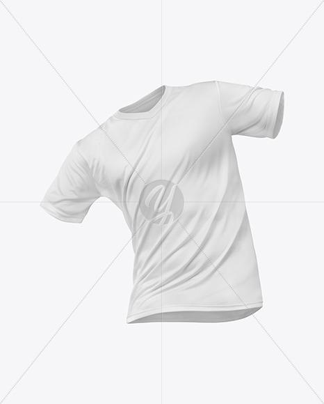 T-Shirt V-neck Mockup - Front View