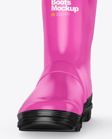 Matte Rain Boots Mockup