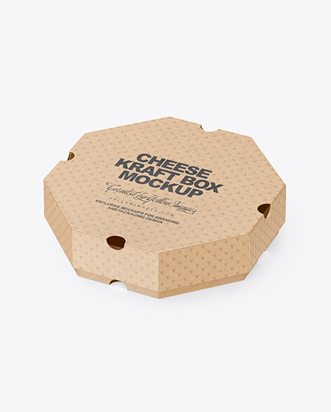 Kraft Cheese Box Mockup