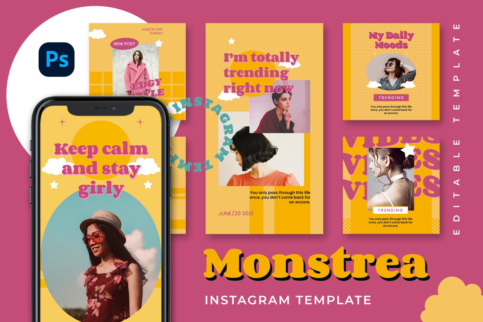 Monstrea Instagram Template