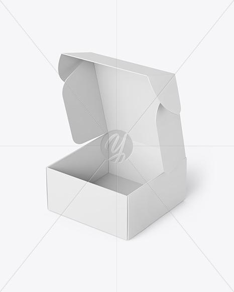 Opened Paper Mailing Box Mockup