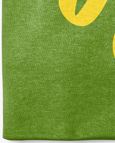 Folded Round Neck T-Shirt Mockup