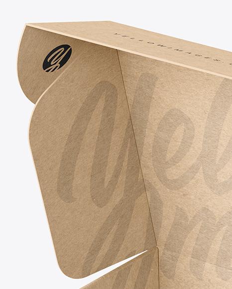Opened Kraft Paper Mailing Box Mockup