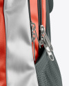 Semi Metallic Textile Backpack Mockup