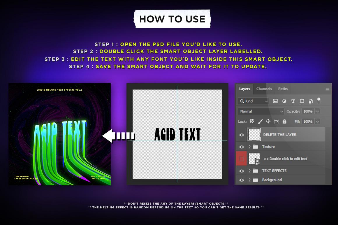 Liquid Melting Text Effects Vol.2