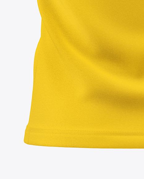 Men's Zip Polo T-Shirt Mockup - Back View