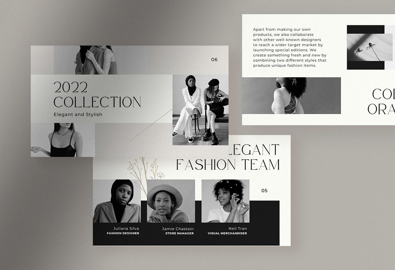 Grayscale Elegant Fashion Brand Presentation Canva