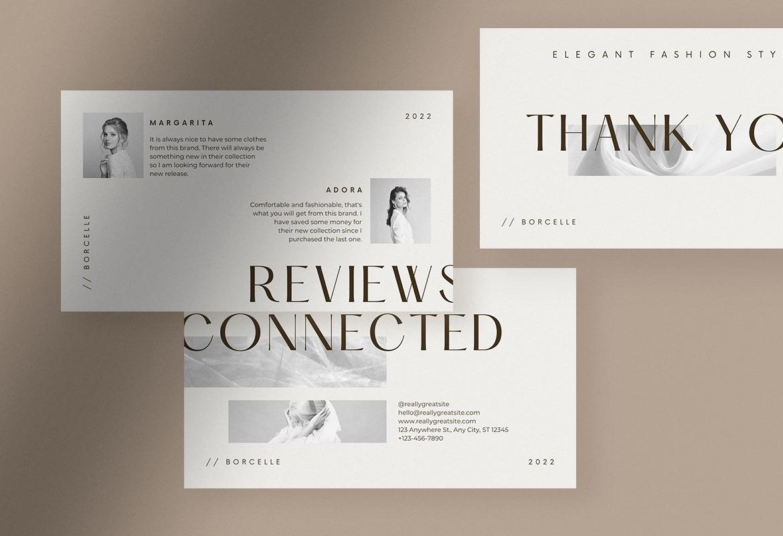 Simple Elegant Fashion Brand Presentation Canva