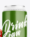 Three Aluminium Drink Cans With Glossy Finish