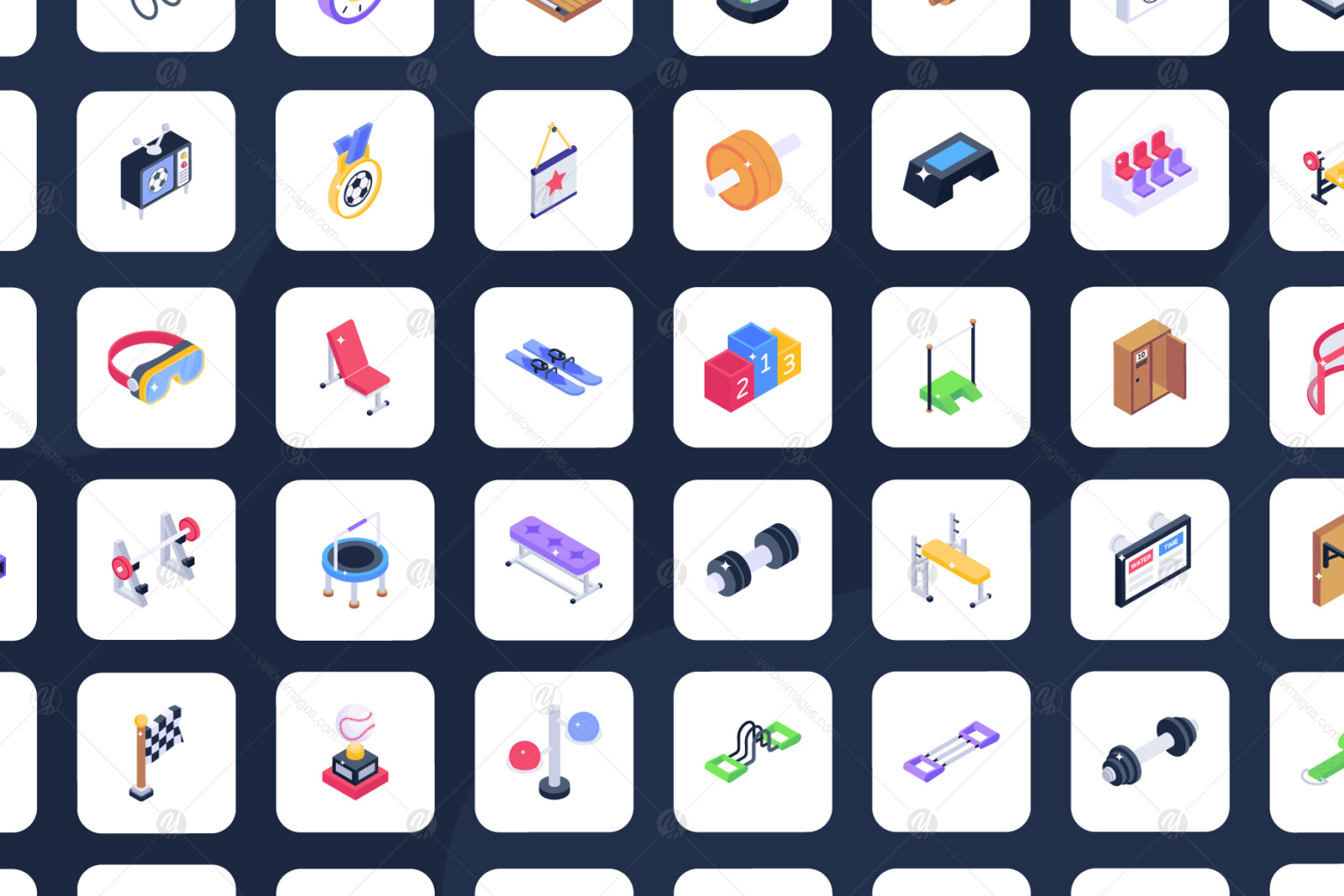 200+ Sports Isometric Icons