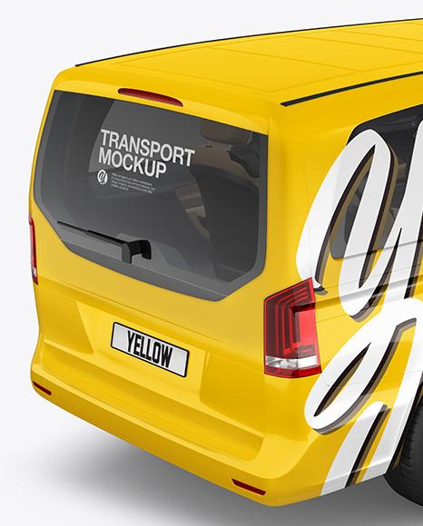 Van Mockup - Back Half Side View