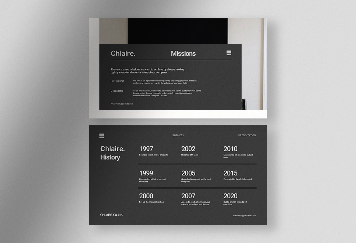 Chlaire - Clean Business Presentation