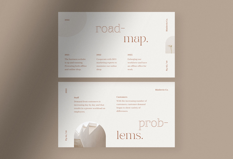 Soft Beige Simple Elegant Pitch Deck Presentation Canva