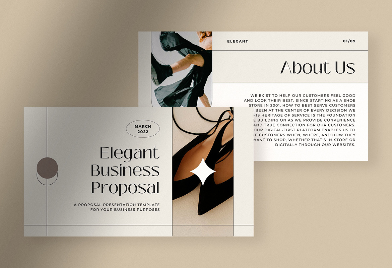 Elegant Minimalist Business Proposal Presentation Canva