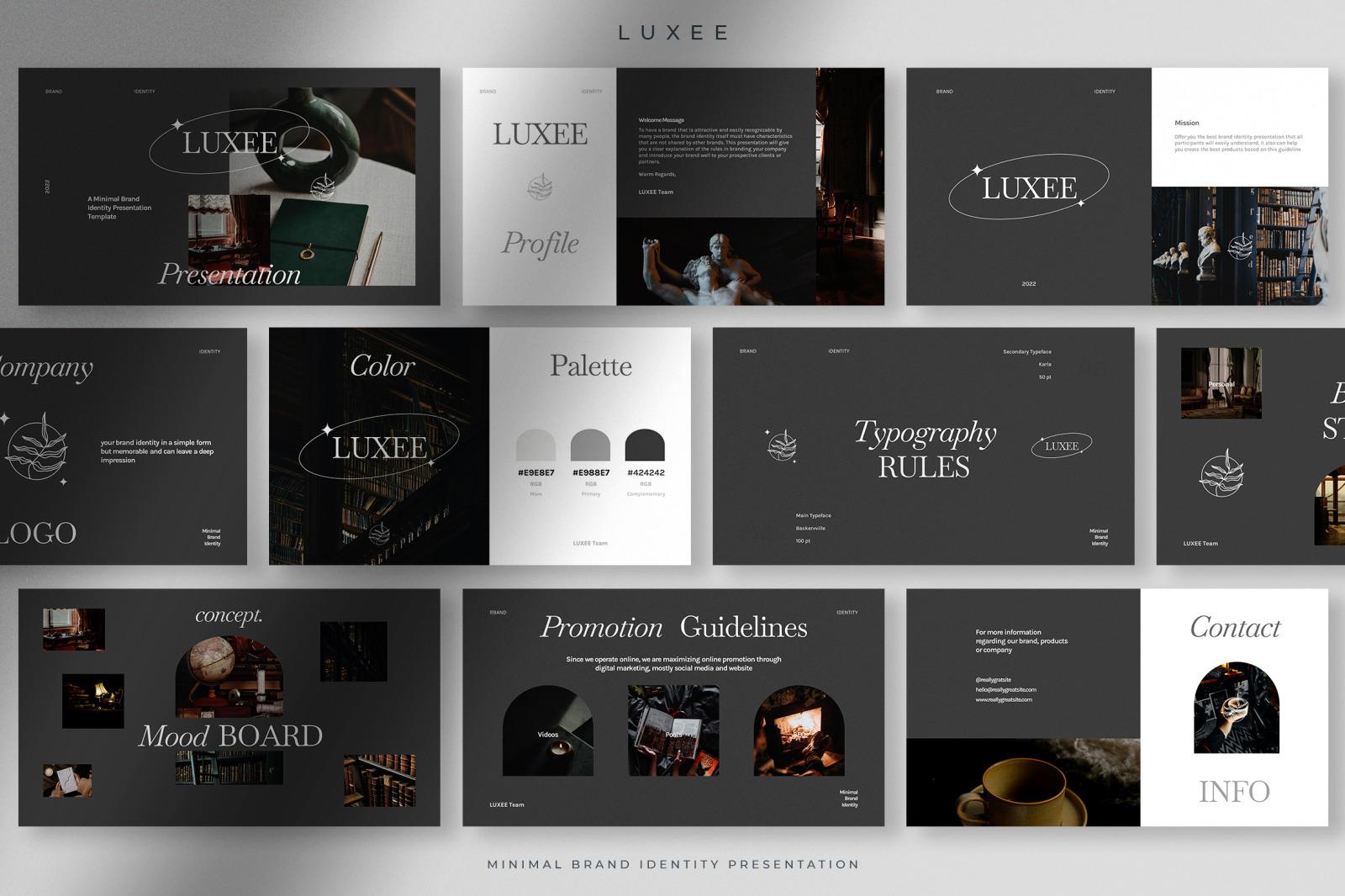 Luxee - Minimal Brand Identity Presentation