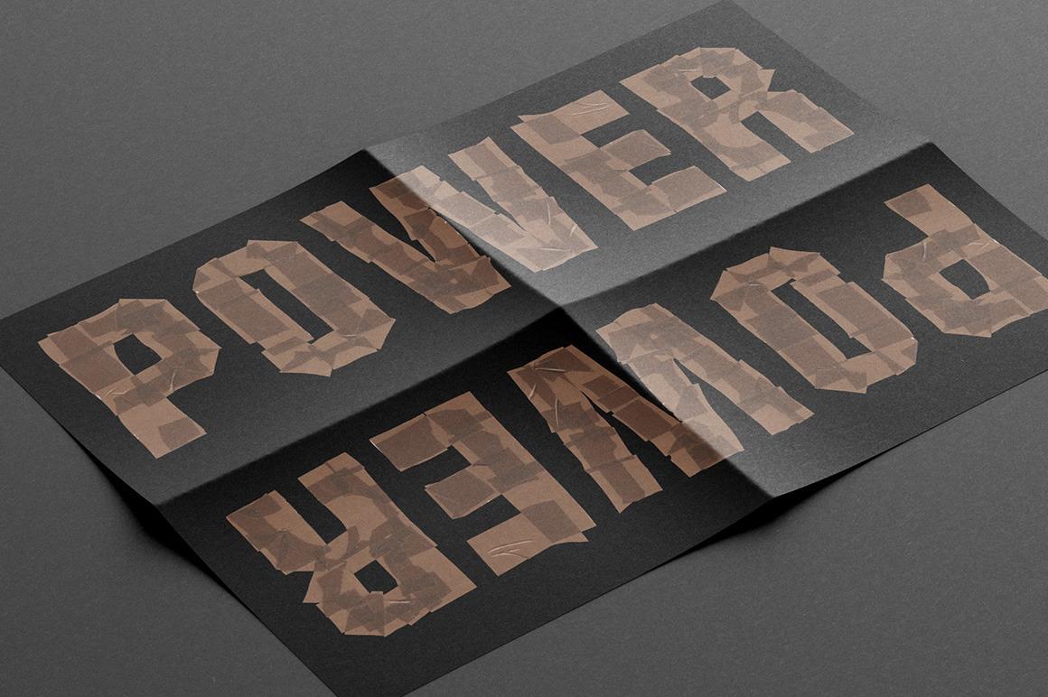 Brown Tape Font
