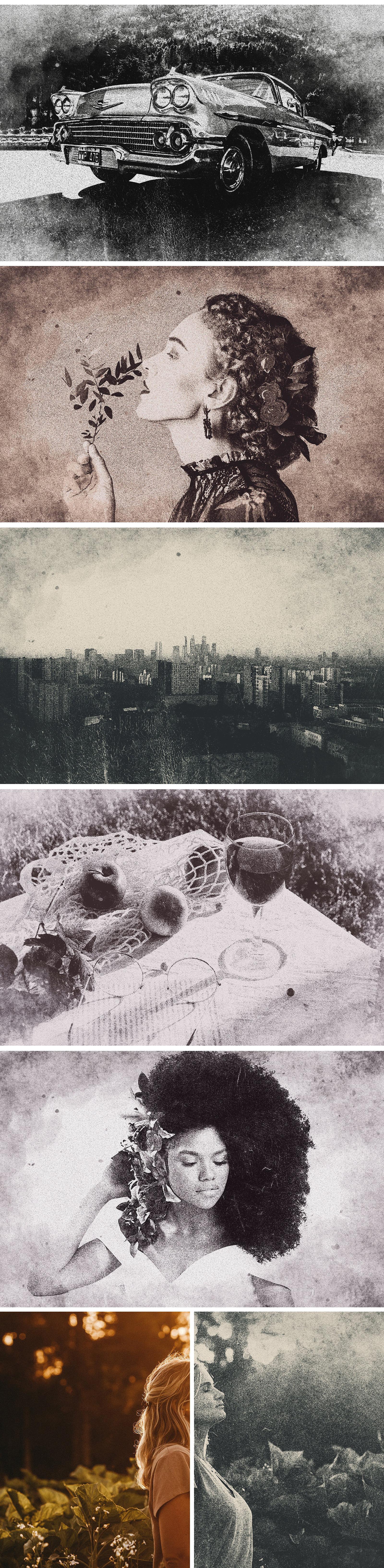 Vintage Risograph Photo Effect