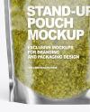 Clear Plastic Pouch w/ Pesto Sauce Mockup