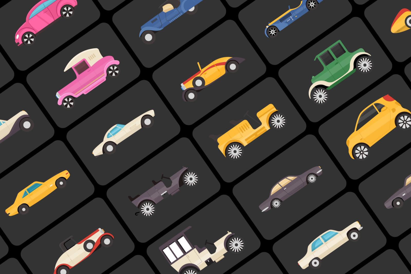 100 Vintage Transport Icons