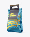 Glossy Bag with Paper Handle Mockup