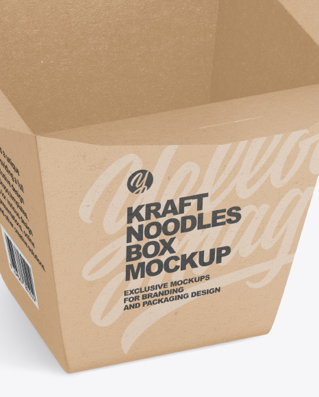 Kraft Noodles Box Mockup