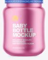 Matte Metallic Baby Bottle Mockup
