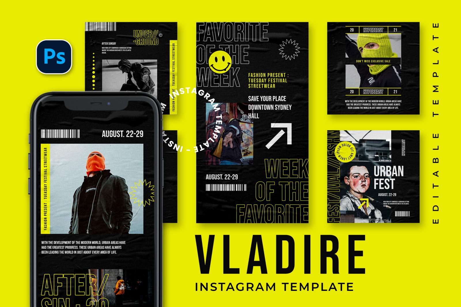 Vladire Instagram Template