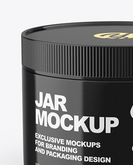 Glossy Jar Mockup